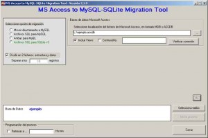 MS Access to MySQL-Sqlite Migration Tool