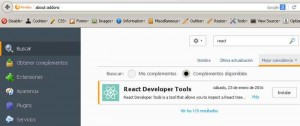 react reveloper tools for Firefox