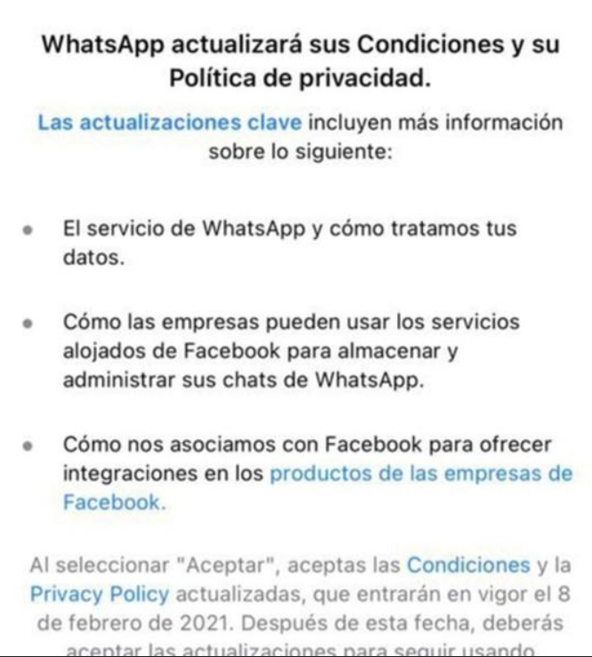 WhatsApp conditions